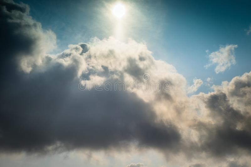 Blue skies sky, clean weather, time lapse blue nice sky. Clouds and sky timelapse, White Clouds Blue Sky, Flight over stock images