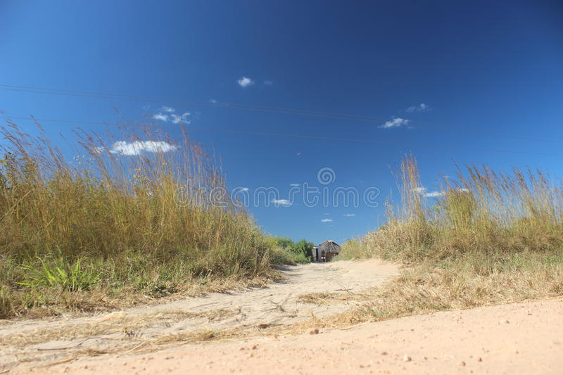 Blue skies in the Village stock photos