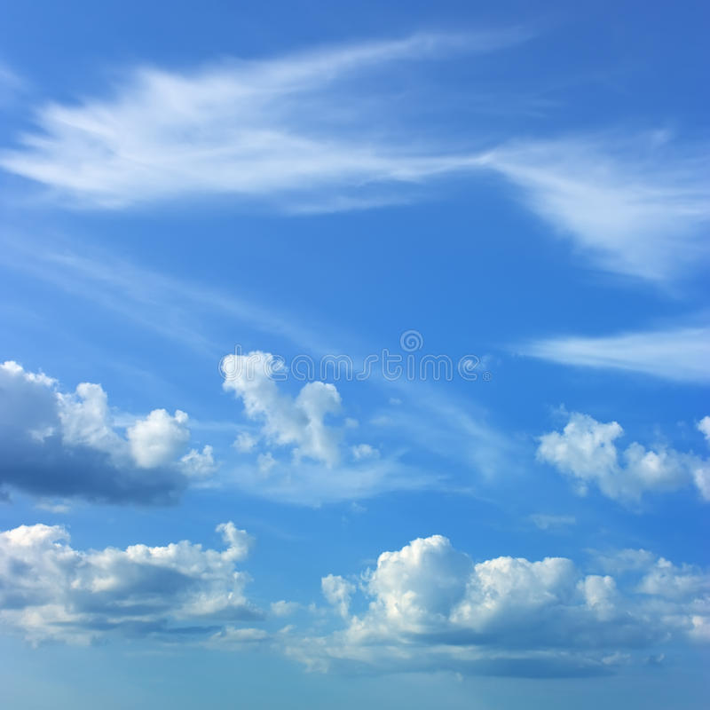 Download Blue sky stock photo. Image of covered, weather, good - 12898986
