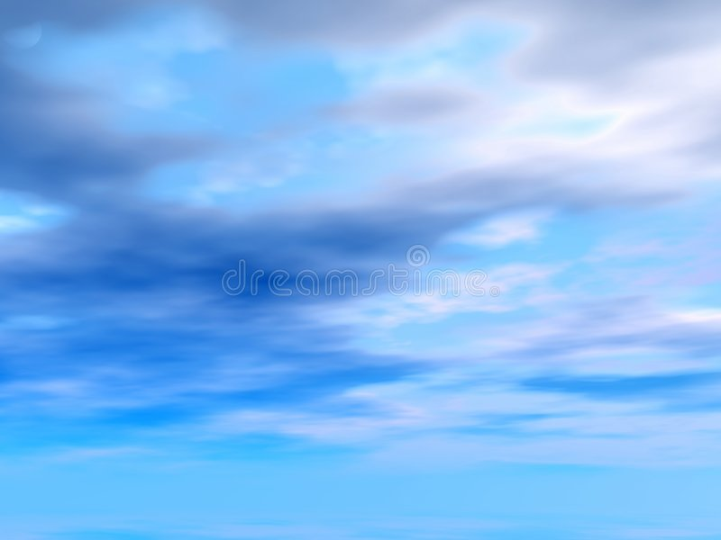 Download Blue sky stock illustration. Image of generated, cloud - 2080724
