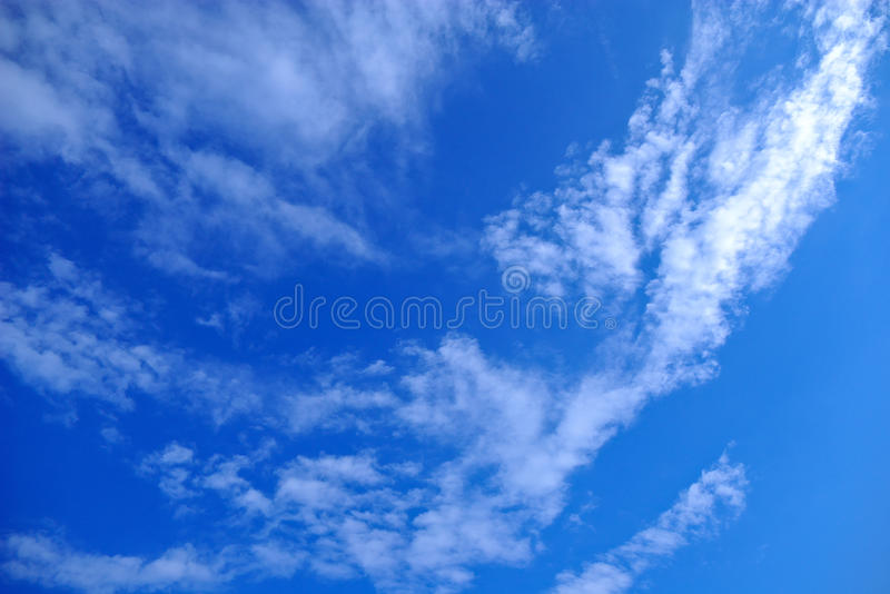Blue sky. White clouds on turn blue sky stock photography