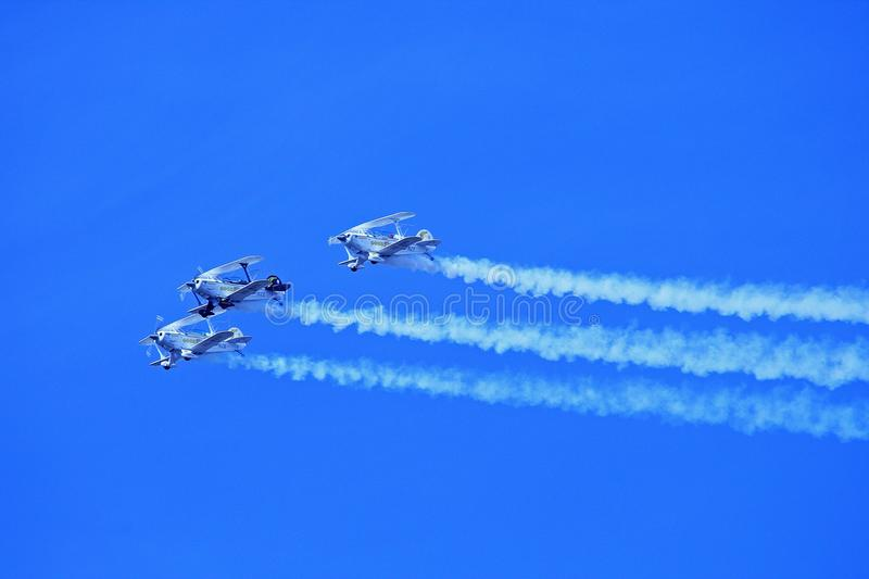 Blue, Sky, Air Show, Azure royalty free stock photography