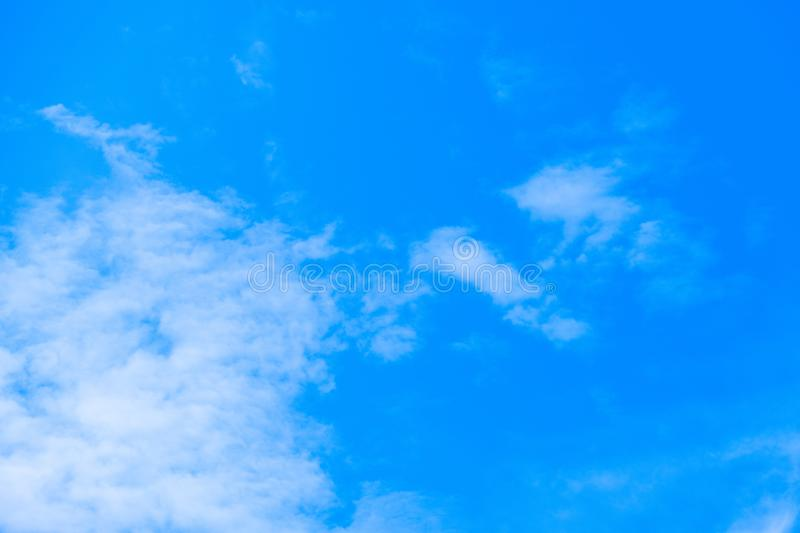 Blue sky and air white clouds background. Abstract background royalty free stock images