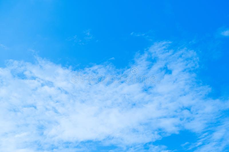 Blue sky and air white clouds background. Abstract background royalty free stock photography