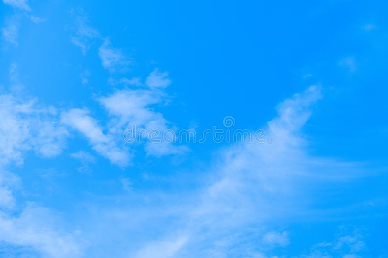 Blue sky and air white clouds background. Abstract background stock image