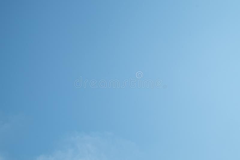Blue sky background. The blue sky for background stock photography