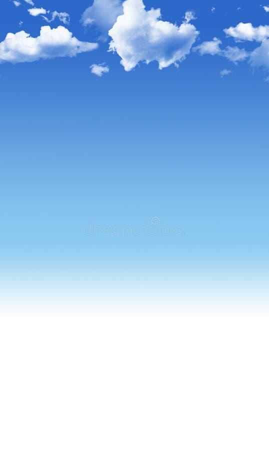 Blue sky background stock photography