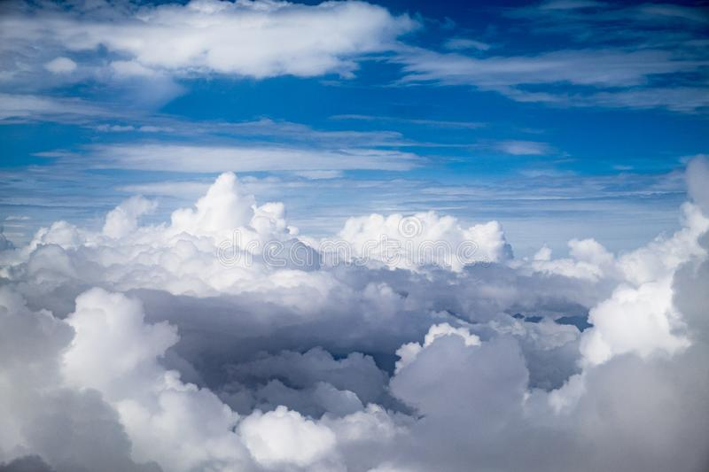Blue sky  with cloud. Blue sky background with clouds,sunny day stock image