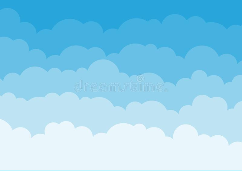 Blue sky background with clouds. Vector. Illustration royalty free illustration