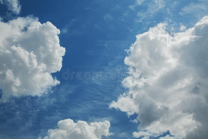 Blue sky background with clouds. Blue sky background with white clouds royalty free stock image