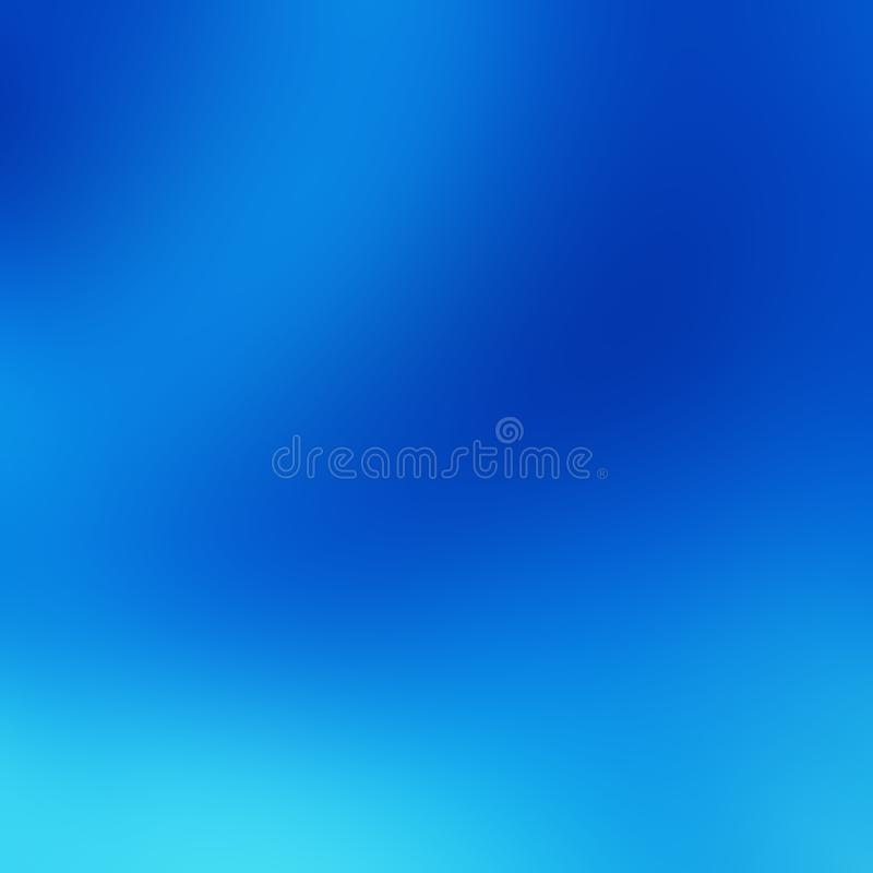 Blue Sky Background, Gradient Natural Texture Template of Dark Blue, Light, Pale and Bright Sky Colors. Backdrop of Many Hues of royalty free illustration