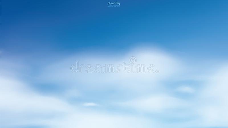 Blue sky background with white clouds. Abstract sky for natural background. royalty free illustration