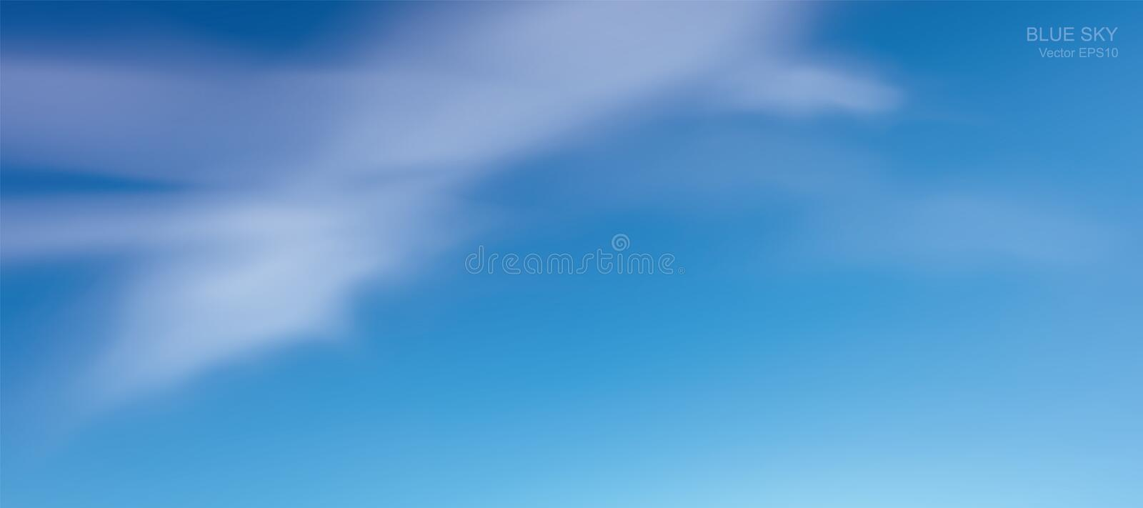 Blue sky background with white clouds. Abstract sky for natural background. vector illustration