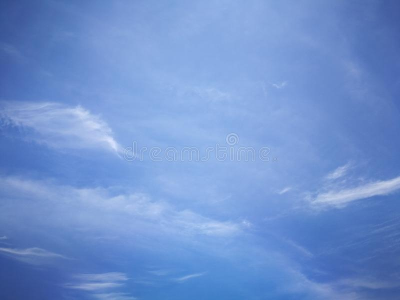 Blue sky background and white clouds soft focus. And copy space royalty free stock images