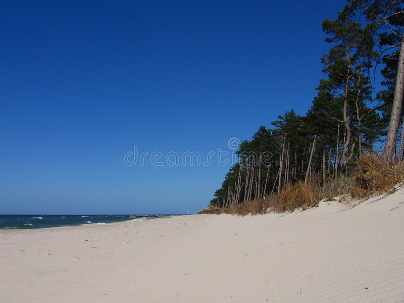 Blue Sky At The Baltic Sea Stock Photos