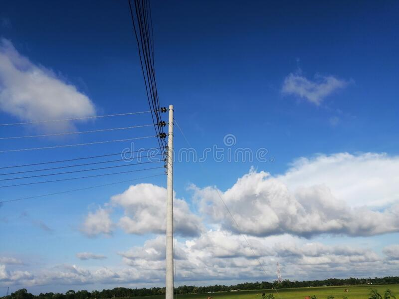 Blue sky in Bangladesh. Comilla Choddgram in Bangladesh stock images