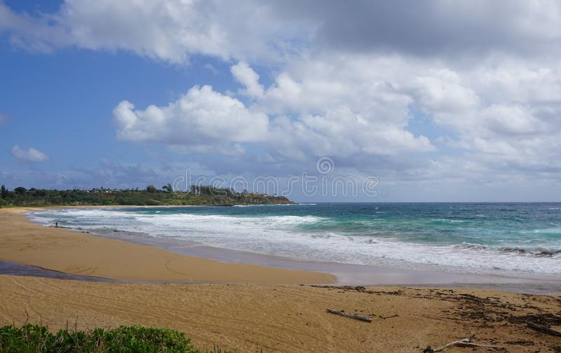 Blue Sky and Beach stock photo