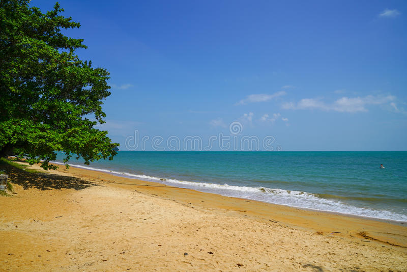 Blue sky, beautiful beach royalty free stock images