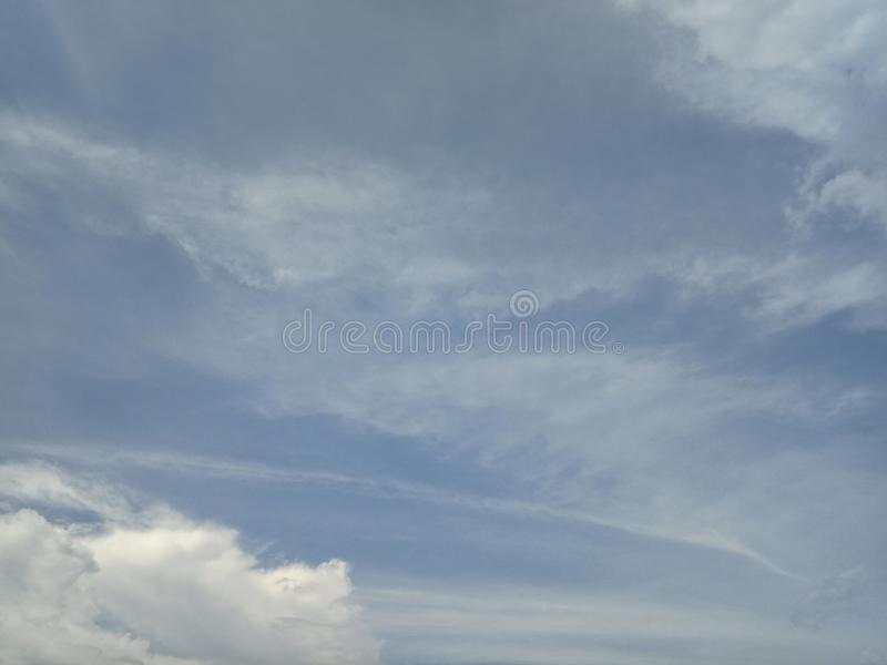 Blue sky beautiful with the cloud can for background stock image