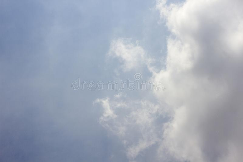Blue sky with beautiful clouds.  royalty free stock image