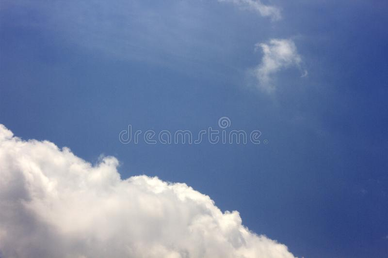 Blue sky with beautiful clouds.  royalty free stock images