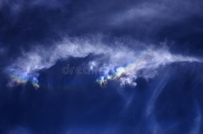 Blue sky with beautiful clouds formation.  royalty free stock images