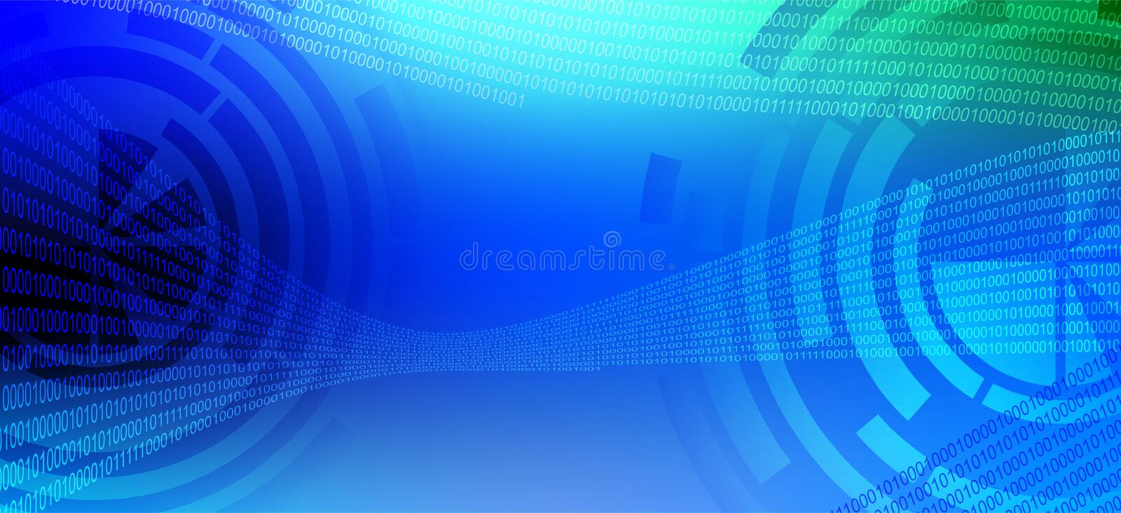 Blue and sky blue technology background.  stock illustration