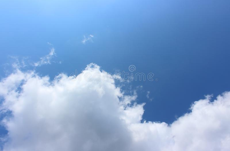 Blue sky background with cloud royalty free stock images
