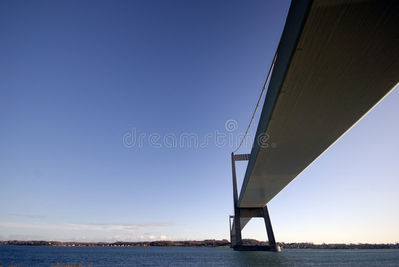 Blue Sky Bridge stock photo