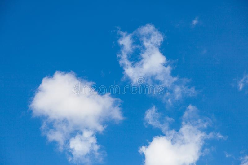 Blue sky with cloud. Air, background, beautiful, beauty, bright, climate, clouds, color, day, heaven, high, light, meteorology, nature, outdoor, outdoors stock image