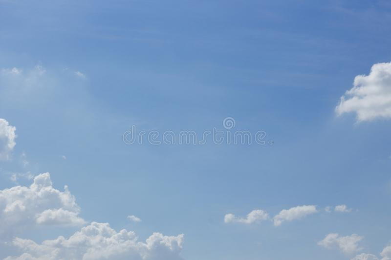 Blue sky with cloud. Air atmosphere background beautiful beauty bright stock photos