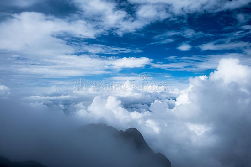 Blue sky  with cloud. Blue sky background with clouds,sunny day royalty free stock photo