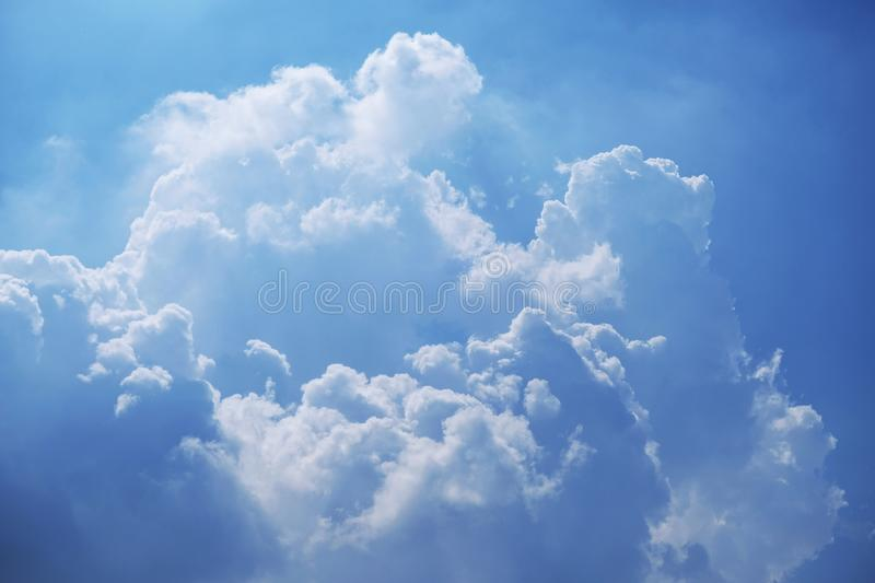 Blue sky with cloud background stock image