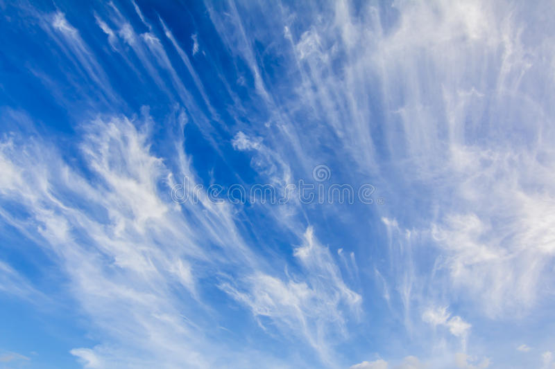 Blue Sky with Cloud stock photography
