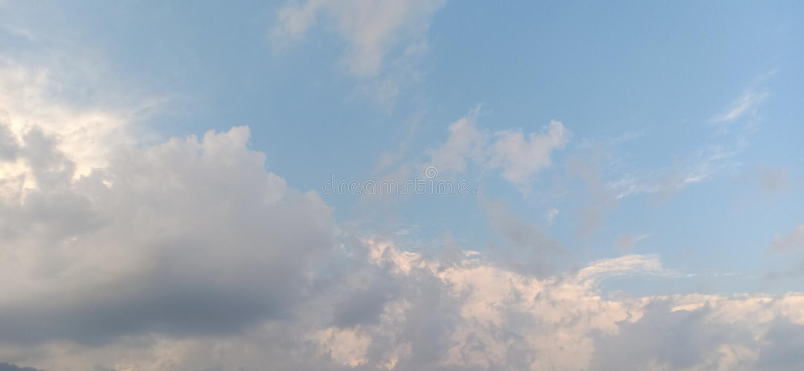 Blue sky and cloud royalty free stock photography