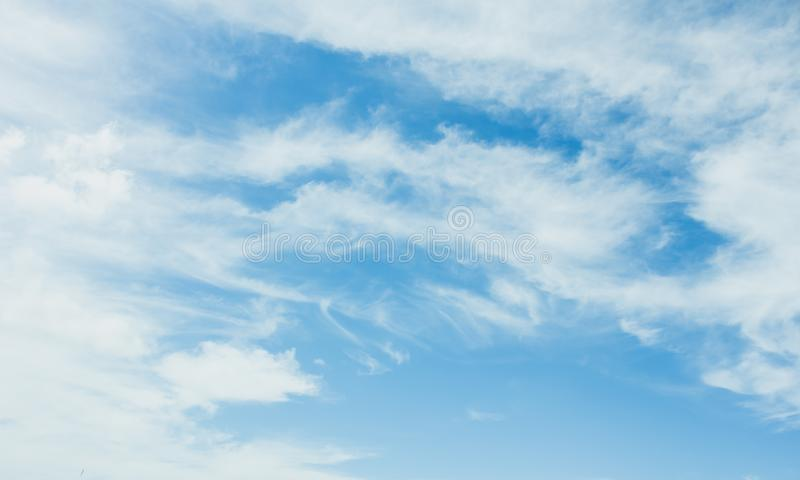 Blue sky and cloud, cloud pattern stock image