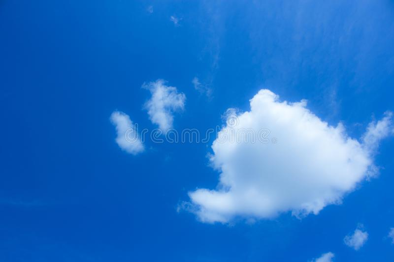 Blue sky and cloud, wind royalty free stock image