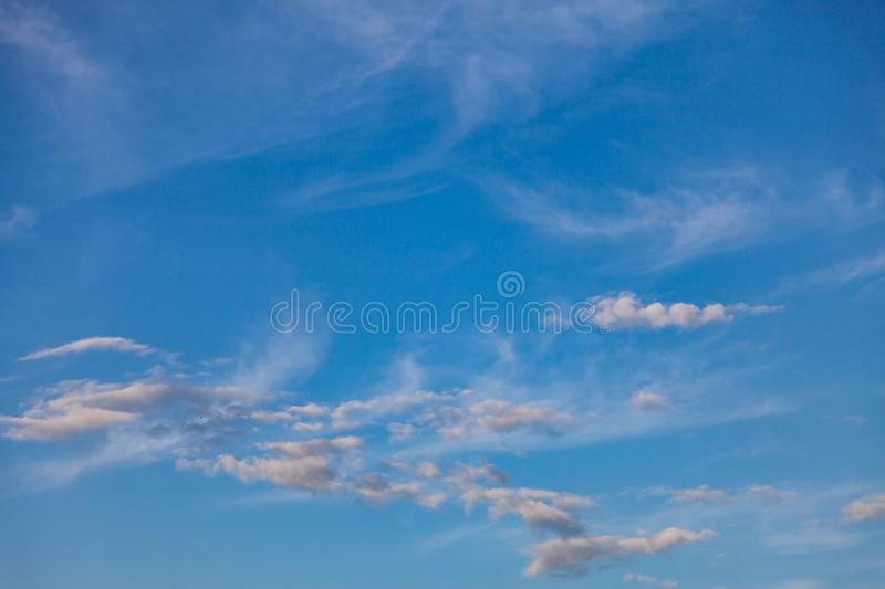 Blue sky with cloud. Abstract, air, atmosphere, background, beautiful, beauty, bright, brightly, clear, climate, cloudy, color, cumulus, day, daylight stock photo