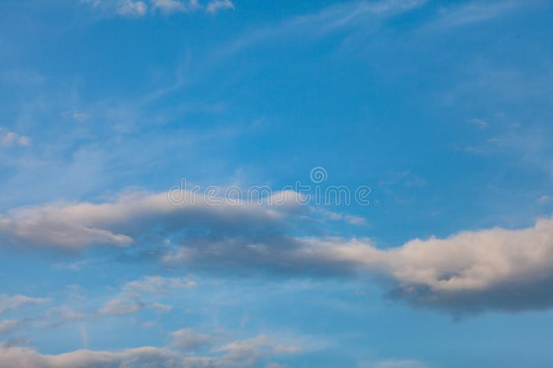 Blue sky with cloud. Abstract, air, atmosphere, background, beautiful, beauty, bright, brightly, clear, climate, cloudy, color, cumulus, day, daylight stock images