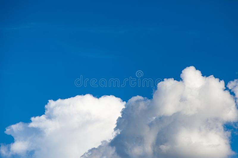 Blue sky with cloud. Abstract, air, atmosphere, background, beautiful, beauty, bright, brightly, clear, climate, cloudy, color, cumulus, day, daylight royalty free stock photos