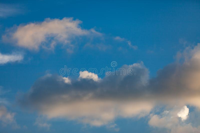 Blue sky with cloud. Abstract, air, atmosphere, background, beautiful, beauty, bright, brightly, clear, climate, cloudy, color, cumulus, day, daylight stock photography