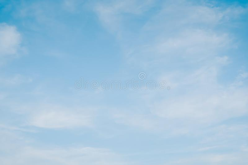 Blue sky with cloud. Clearing day and Good weather in the morning. A Blue sky with cloud. Clearing day and Good weather in the morning stock photography