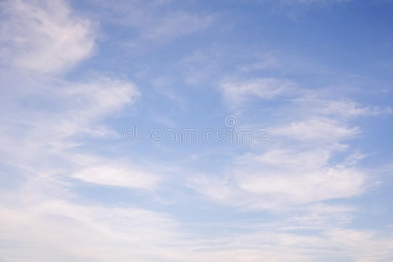 Blue sky with cloud. Clearing day and Good weather in the morning. A Blue sky with cloud. Clearing day and Good weather in the morning stock images