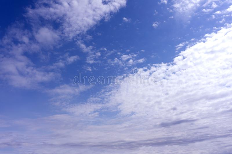 Blue sky with cloud. Clearing day and Good weather in the morning.  stock images