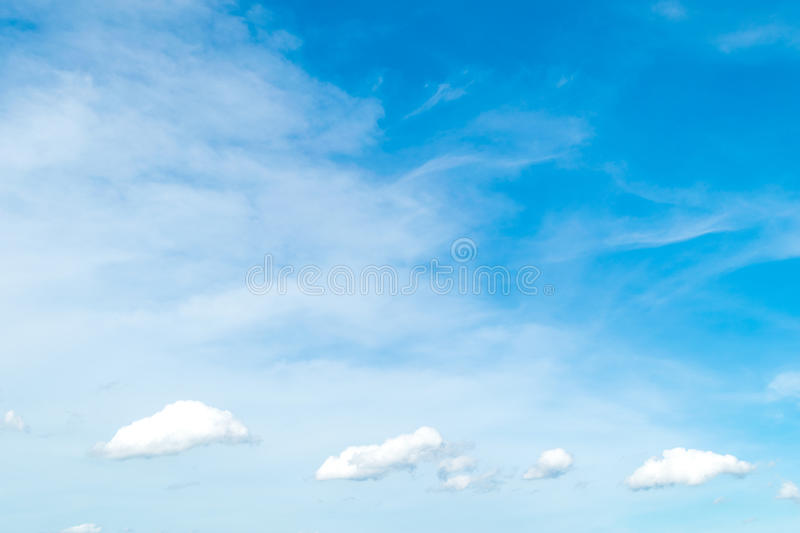 Blue sky with cloud. stock images