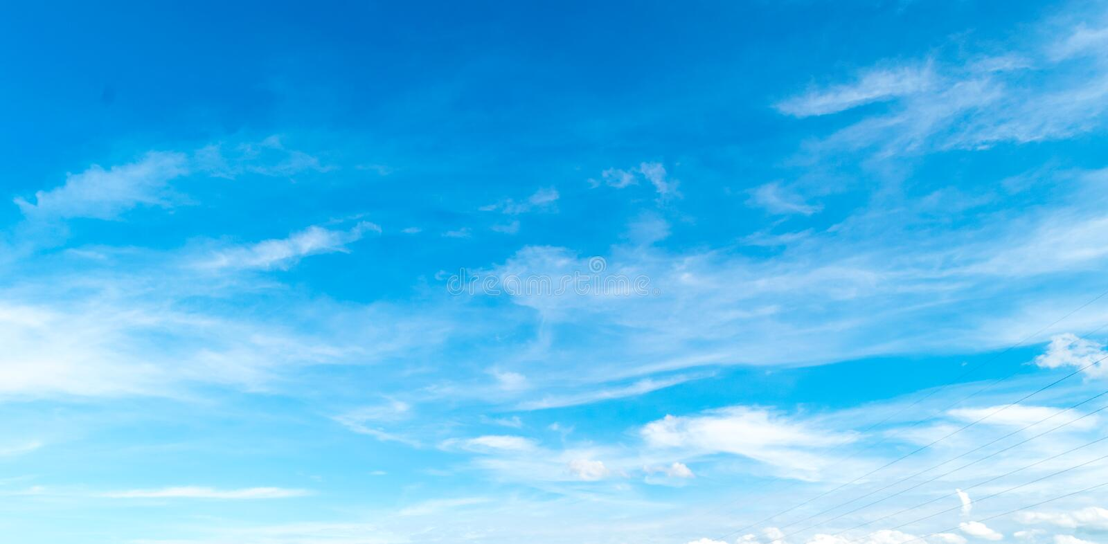 Blue sky with cloud. stock photo