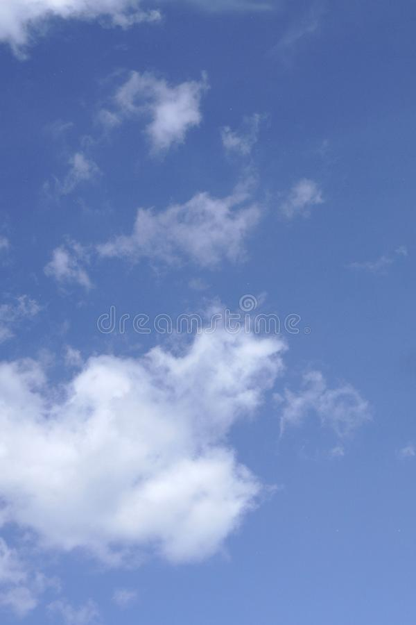 Blue sky and cloud in cloudy day textured background . royalty free stock images