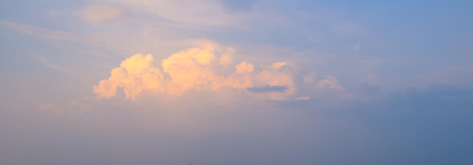 Blue Sky with Cloud and Lighting royalty free stock photo