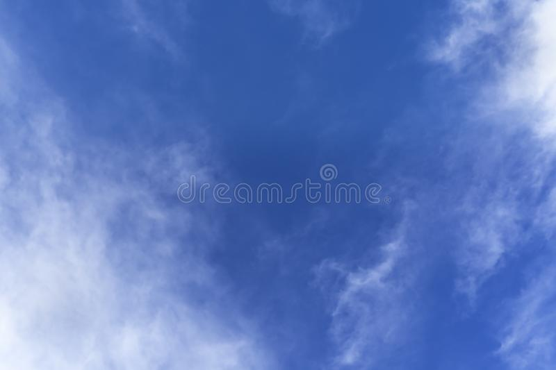 Blue sky with cloud in the morning. The nature of blue sky with cloud in the morning stock image