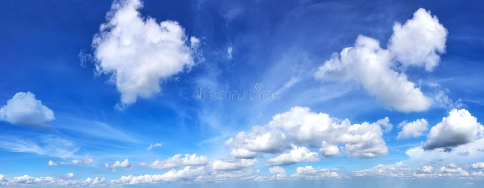Blue sky and cloud. royalty free stock images